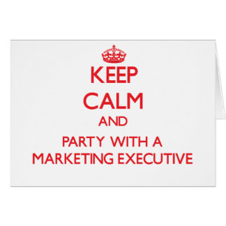 Guarde la calma y vaya de fiesta con un ejecutivo felicitaciones