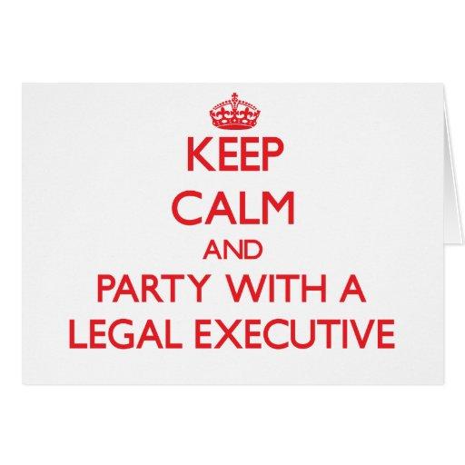 Guarde la calma y vaya de fiesta con un ejecutivo  felicitación