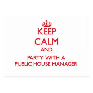 Guarde la calma y vaya de fiesta con un encargado  tarjetas de visita grandes