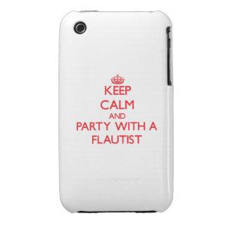 Guarde la calma y vaya de fiesta con un flautista iPhone 3 carcasas