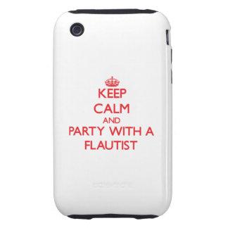 Guarde la calma y vaya de fiesta con un flautista tough iPhone 3 carcasa
