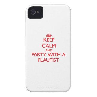 Guarde la calma y vaya de fiesta con un flautista iPhone 4 Case-Mate cárcasa