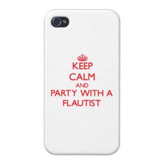 Guarde la calma y vaya de fiesta con un flautista iPhone 4 cárcasa