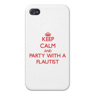 Guarde la calma y vaya de fiesta con un flautista iPhone 4 carcasas