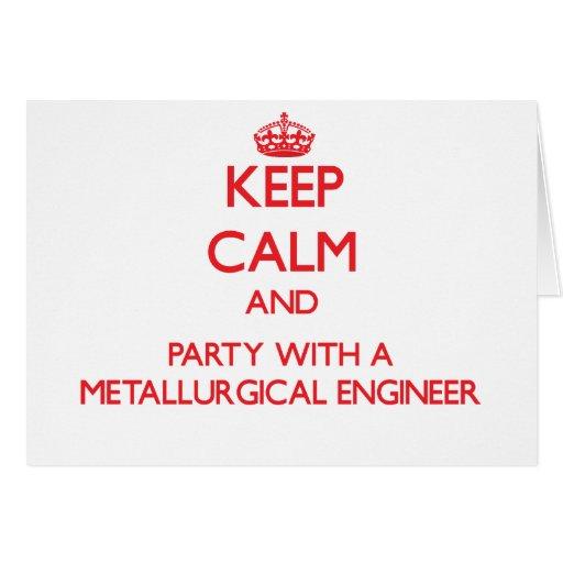 Guarde la calma y vaya de fiesta con un ingeniero  felicitacion