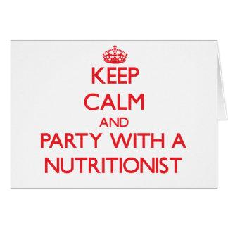 Guarde la calma y vaya de fiesta con un nutricioni felicitaciones