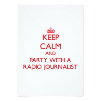 Guarde la calma y vaya de fiesta con un periodista invitacion personal