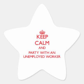 Guarde la calma y vaya de fiesta con un trabajador colcomanias forma de estrellas