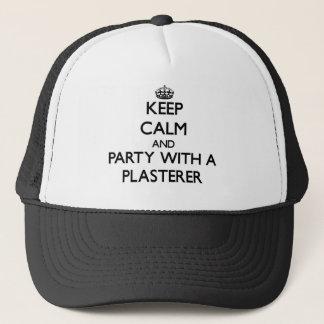 Guarde la calma y vaya de fiesta con un yesero gorra de camionero