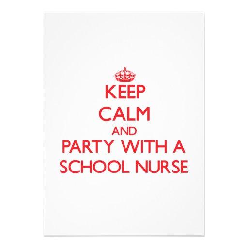 Guarde la calma y vaya de fiesta con una enfermera invitaciones personales