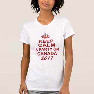 Guarde la calma y vaya de fiesta en Canadá Camiseta