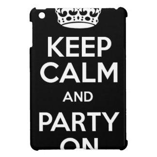 Guarde la calma y vaya de fiesta encendido