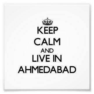 Guarde la calma y viva en Ahmadabad Arte Fotografico