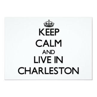 Guarde la calma y viva en Charleston Invitación 12,7 X 17,8 Cm