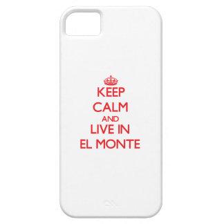 Guarde la calma y viva en el EL Monte iPhone 5 Case-Mate Protectores