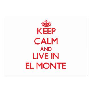 Guarde la calma y viva en el EL Monte Plantillas De Tarjetas De Visita