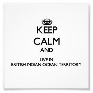 Guarde la calma y viva en el Océano Índico británi Fotografía
