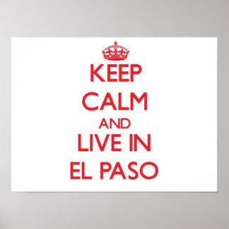 Guarde la calma y viva en El Paso Poster