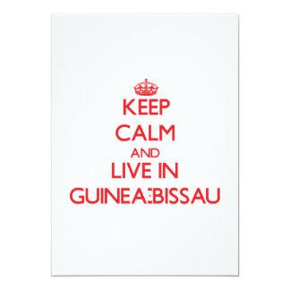 Guarde la calma y viva en Guinea-Bissau Invitación 12,7 X 17,8 Cm
