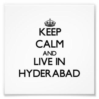 Guarde la calma y viva en Hyderabad Fotografías