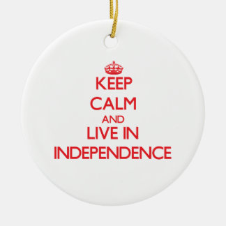 Guarde la calma y viva en independencia adorno de reyes