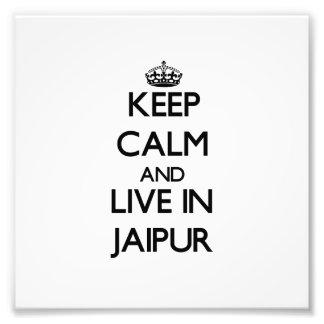 Guarde la calma y viva en Jaipur Foto