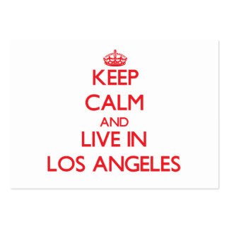 Guarde la calma y viva en Los Ángeles Tarjetas De Visita