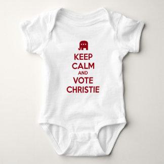 Guarde la calma y vote a Chris Christie Body Para Bebé