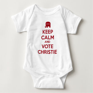 Guarde la calma y vote a Chris Christie Camisas