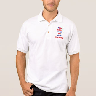 Guarde la calma y vote a Christie Camisas Polo
