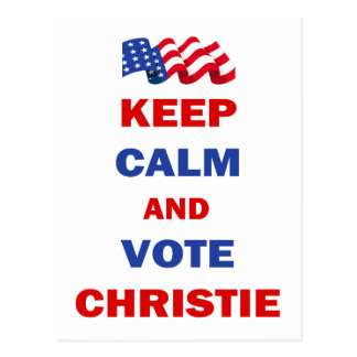 Guarde la calma y vote a Christie Postal
