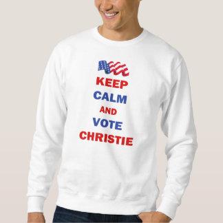 Guarde la calma y vote a Christie Sudadera
