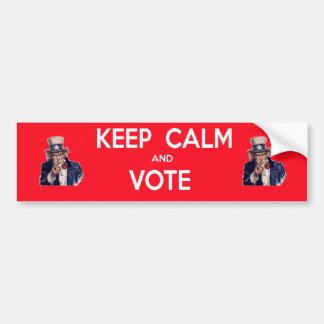 Guarde la calma y vote pegatina para coche
