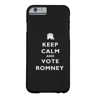 Guarde la calma y vote Romney Funda De iPhone 6 Barely There
