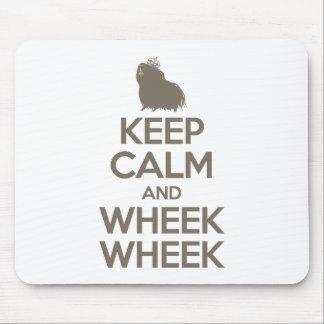 Guarde la calma y Wheek Wheek Alfombrilla De Ratón