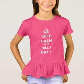 Guarde la camiseta del volante de los chicas del