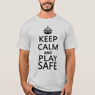 Guarde la camiseta segura del billar de la calma y