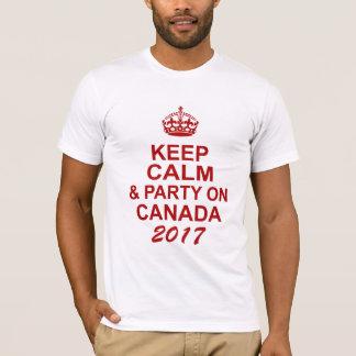 Guarde la camiseta tranquila de Canadá 150