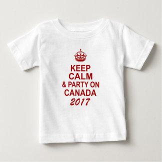 Guarde la camiseta tranquila de Canadá 150 para