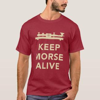 Guarde la camiseta viva de Morse