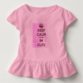 GUARDE LA CAUSA TRANQUILA que soy LINDO Camiseta De Bebé