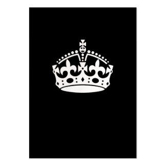 Guarde la corona tranquila en negro tarjetas de visita grandes