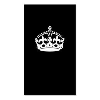 Guarde la corona tranquila en negro tarjetas de visita