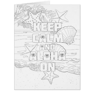 Guarde la hawaiana tranquila en tarjeta grande del