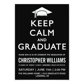 Guarde la invitación tranquila y graduada