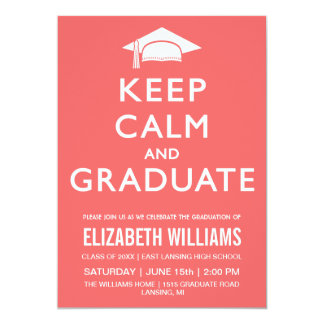 Guarde la invitación tranquila y graduada - rosa