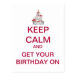 GUARDE la postal TRANQUILA del feliz cumpleaños