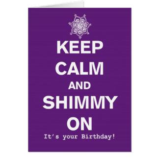 Guarde la tarjeta de la calma y de cumpleaños de