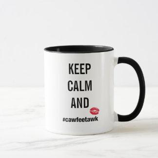 Guarde la taza de la calma y del #cawfeetawk