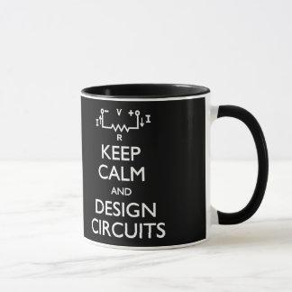 Guarde la taza tranquila de los circuitos del